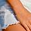 Bracelet chaîne perlée