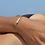 Thumbnail: Bracelet Chaîne Perles d'eau  ✨⚪️