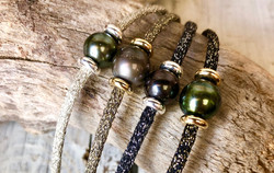 Bracelet Lurex & Perles de Tahiti