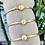 Bracelet 4 joncs et perle gold