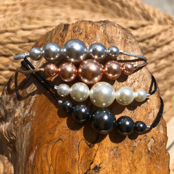 Bracelets perles nacrées de Swarovski
