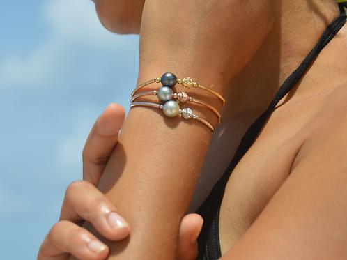 Bracelet perle de Tahiti & Bouddha 🌺🌸