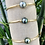 Bracelet 4 joncs en gold filled 14 carats et intérieur en fil semi rigide gold filled et perle d'Australie.