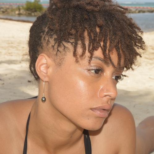 Boucles d'oreilles Crochets Perles de Tahiti