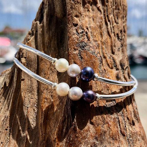 Bracelet Argent 3 Perles d'eau ✨⚪️