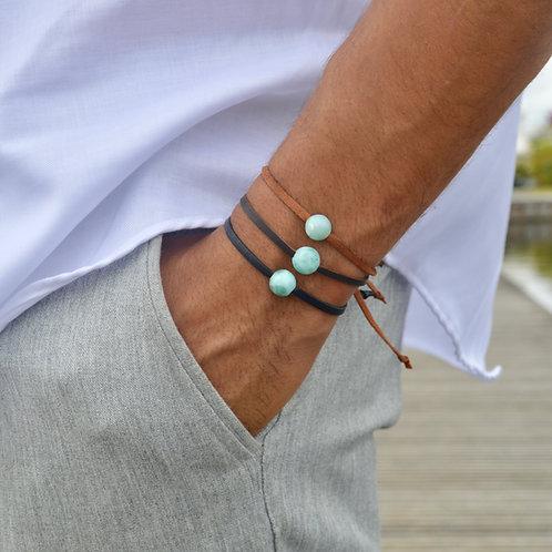 Bracelet Cuir Larimar 🌵🌵