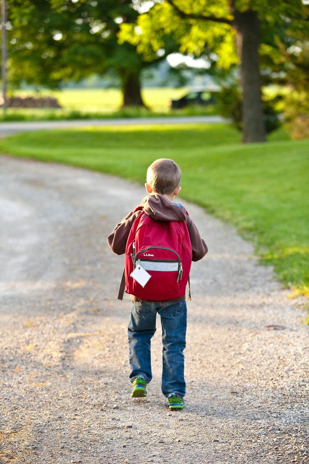 A child on his way to school