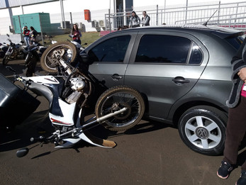 Mais um acidente é registrado próximo a empresa Flex