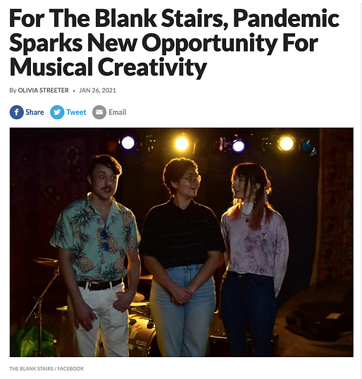 """""""For The Blank Stairs, Pandemic Sparks New Opportunity For Musical Creativity"""" by Olivia Streeter. WCBU's On Deck"""