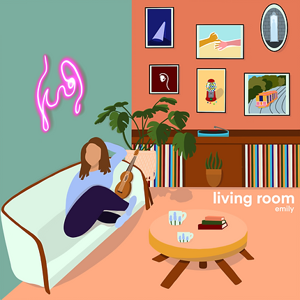 """the """"living room"""" EP cover art by Ginger Batton"""