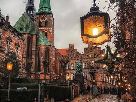 המרכז העתיק  של ליבק , עיר  ההנזה לשעבר בגרמניה
