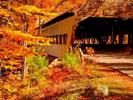 הגשרים המכוסים של ורמונט ואורגון בסתיו