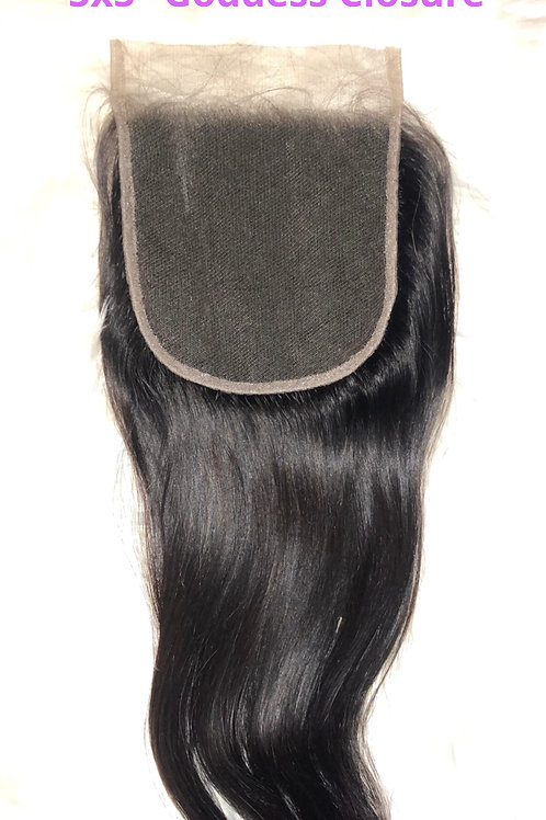 "12"" 5x5 Goddess Closure"