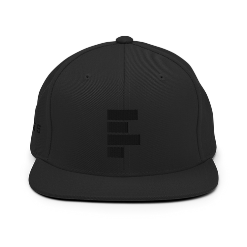 All Black Snapback Hat
