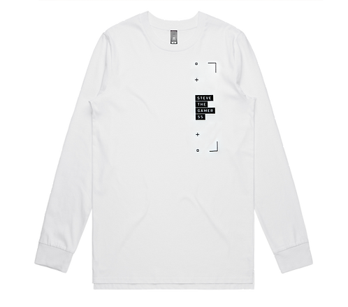 White and Black Long Sleeve Tee