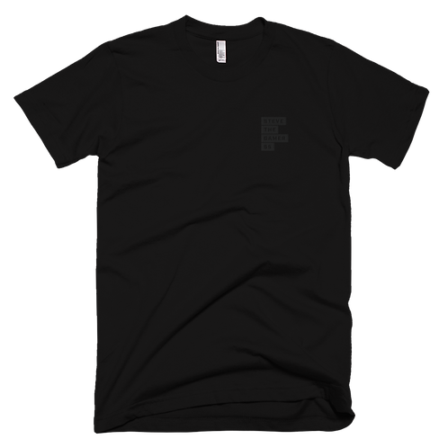 All Black Embroidered T-Shirt
