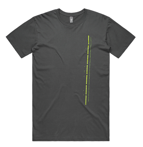Charcoal and Green Short Sleeve Tee