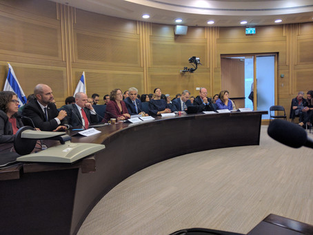 Knesset briefing on Reform and Conservative Judaism in Israel