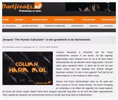 """""""Jacques 'The Human Calculator' is een grootheid in de dartswereld"""", Dartfreakz, 7 mei 2015"""