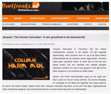 """Jacques 'The Human Calculator' is een grootheid in de dartswereld"", Dartfreakz, 7 mei 2015"