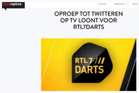 """""""Oproep tot twitteren op tv loont voor RTL7Darts"""", Buzzcapture, 2 januari 2016"""