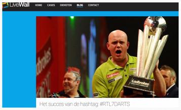 """""""Het succes van de hashtag: #RTL7DARTS"""", LiveWall, 2 januari 2014"""