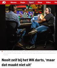 """""""Nooit zelf bij het WK darts, 'maar dat maakt niet uit'"""", AD, 27 december 2017"""