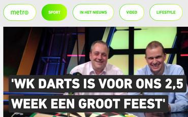 """""""'WK Darts is voor ons 2,5 week één groot feest'"""", Metro, 14 december 2017"""