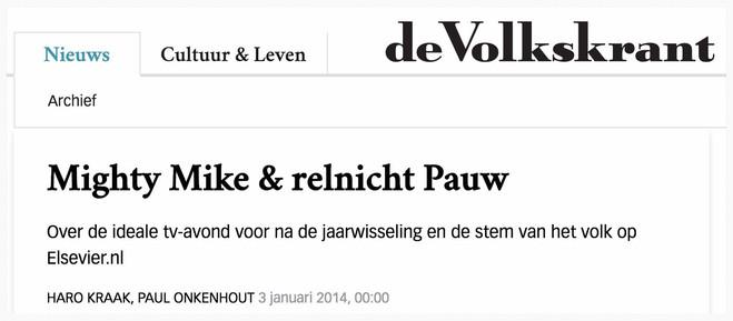 Volkskrant, 3 januari 2014