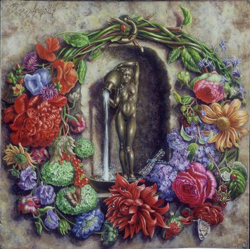 Fontaine aux fleurs