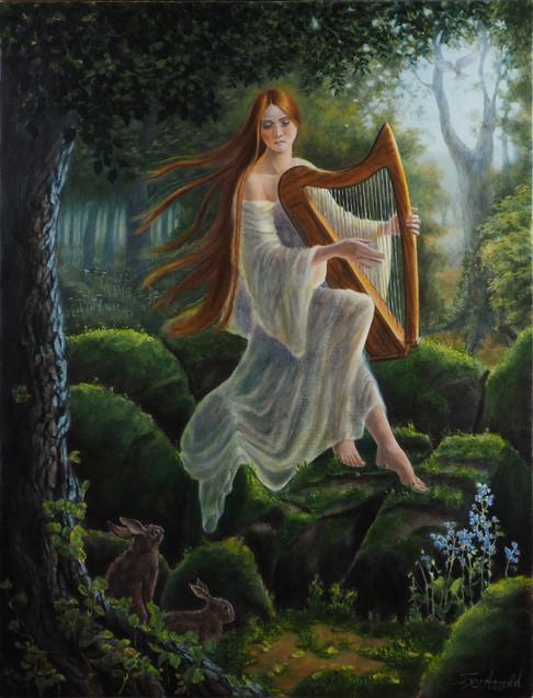 La harpiste aux rochers