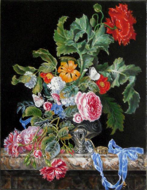 Vase de fleurs d'après Jan Davidsz de Heem