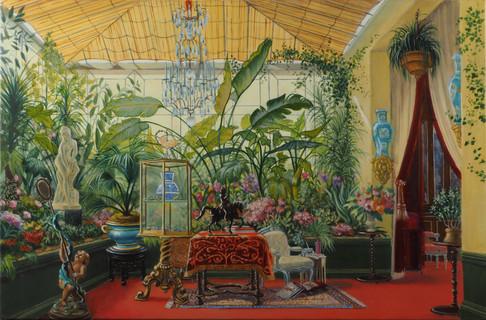 La Véranda de la Princesse Mathilde, d'après Sébastien-Charles Giraud   huile sur toile