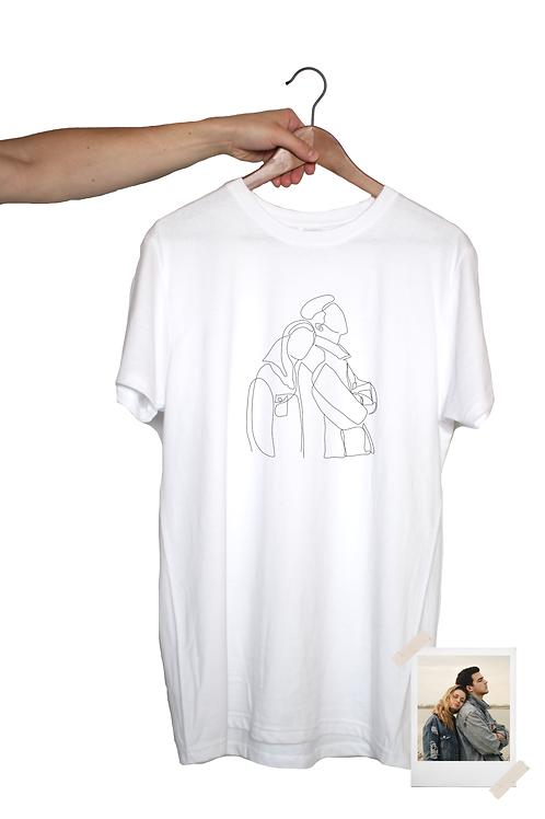 Unisex Shirt mit One Line Art Print