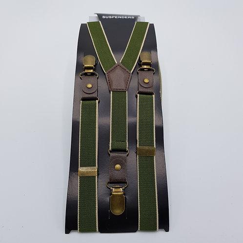Braces skinny green pattern