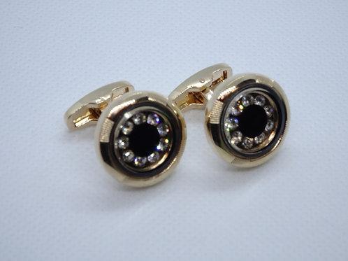 Cufflinks Gold Diamond