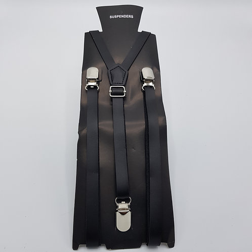 Braces in faux leather