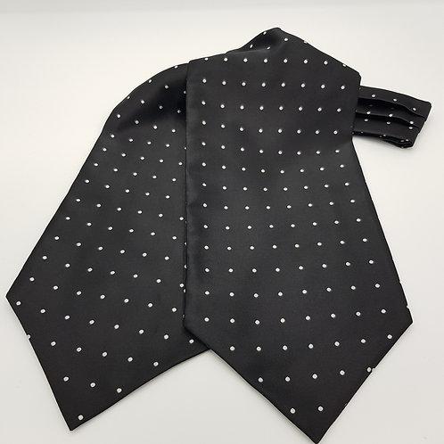 Cravat Black and white dots