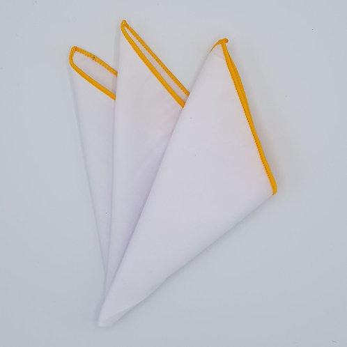 Pocket square plain with edges
