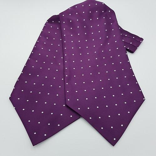 Cravat purple and White dots