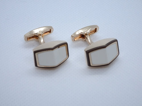 Cufflinks Gold and White