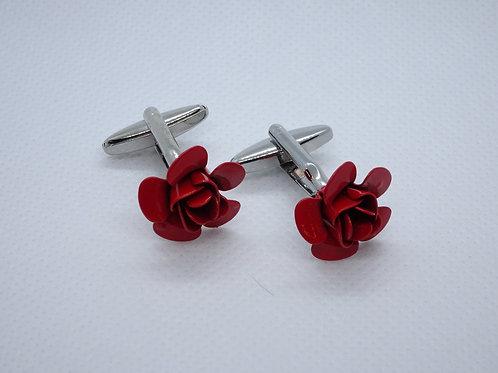Cufflinks Rose Red