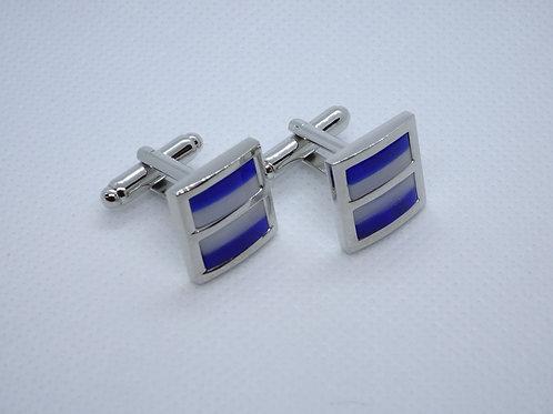 Cufflinks striped blue