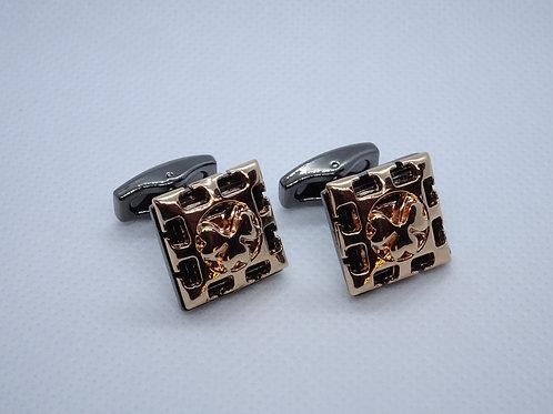 Cufflinks Antique Gold and Black