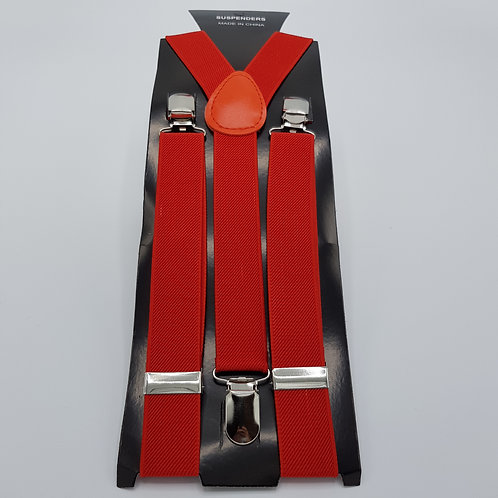 Braces skinny red