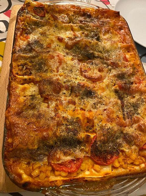 Chicken, cheddar cheese & vegetable Lasagne