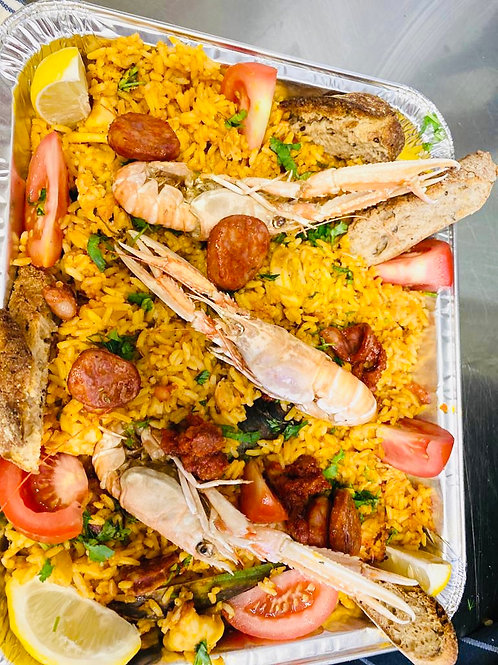 The Tapestry Paella family meal