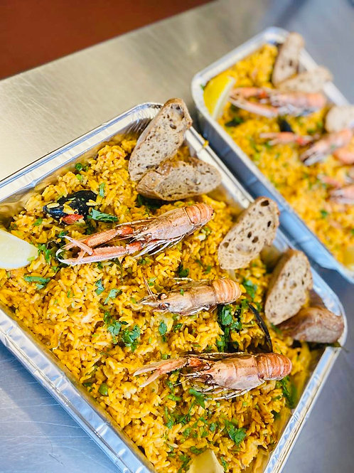 Seafood and Fish Paella family meal