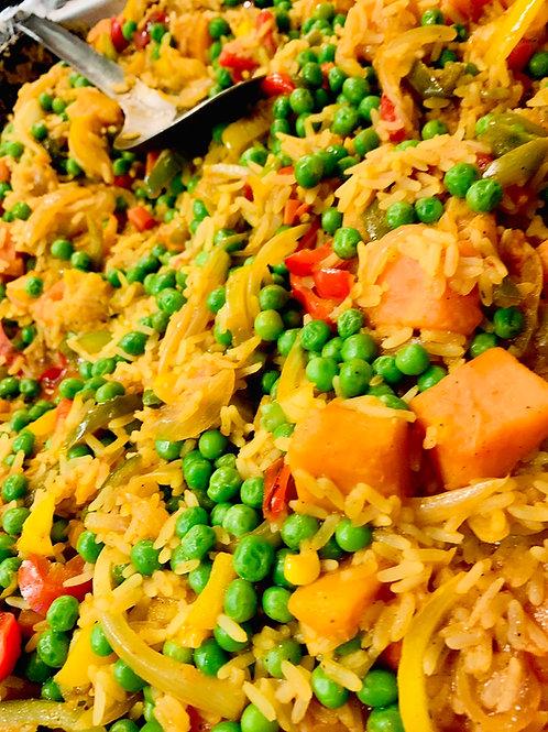 Vegetarian Paella family meal