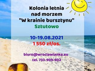 """Kolonia letnia nad morzem """"W krainie bursztynu"""""""
